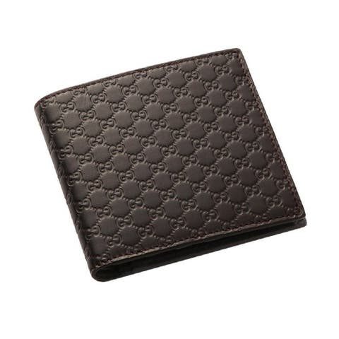 Gucci Mens Micro GG T. Moro Brown Leather Bifold Wallet 278596 - M