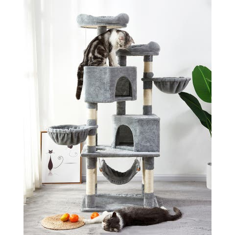 Multi-Level Cat Tree with Sisal
