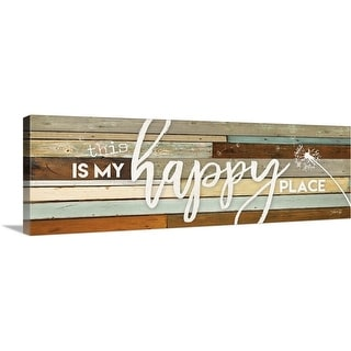 """""""This is My Happy Place"""" Canvas Wall Art"""