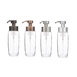 RAIL19 Large Glass Foaming Soap Dispenser w/ Metal Pump - Copper