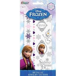 Disney's Frozen Princess Anna Metallic Jewelry Temporary Tattoo Kit - Silver