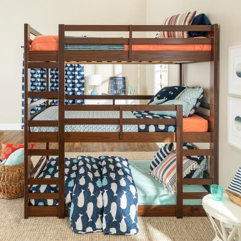 Taylor & Olive Browning Twin Triple Bunk Bed