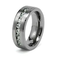 8mm Titanium Ring with CZ