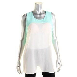 jaye.e Womens Georgette Tiered Pullover Top