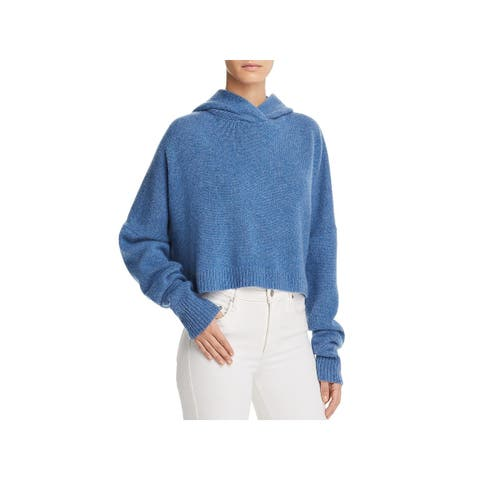 Theory Womens Hoodie Cashmere Crop - P