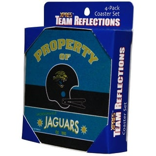 Jacksonville Jaguars Four Piece Team Expressions Foam Coaster Set