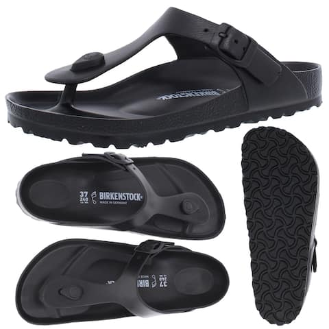 Birkenstock Women's Gizeh EVA Ultra Lightweight T-Strap Thong Sandals - Black