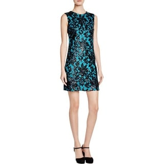 Diane Von Furstenberg Womens Kaleb Cocktail Dress Sequined Sleeveless