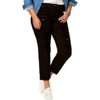 Rachel Rachel Roy Womens Plus Girlfriend Jeans Ripped Relaxed