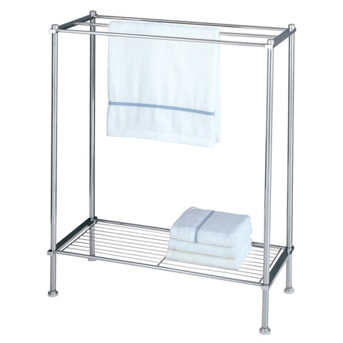 Organize It All 16986 Metro 24 Inch Wide One Tier Free Standing Wire Towel Rack - CHROME - N/A