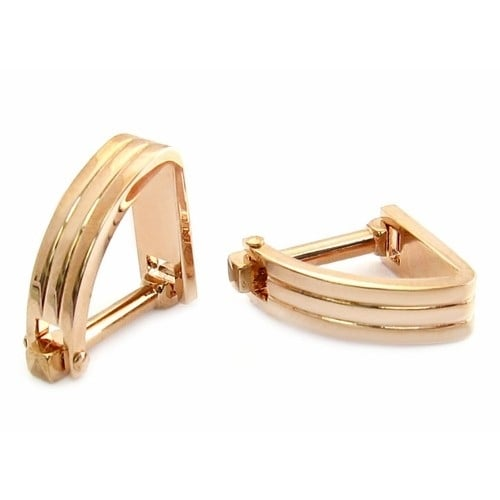 The Wedge In Rose Gold Cufflinks