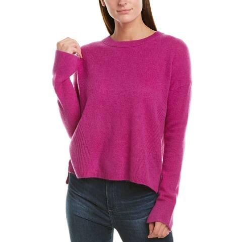 White + Warren Drop-Shoulder Cashmere Crew Sweater