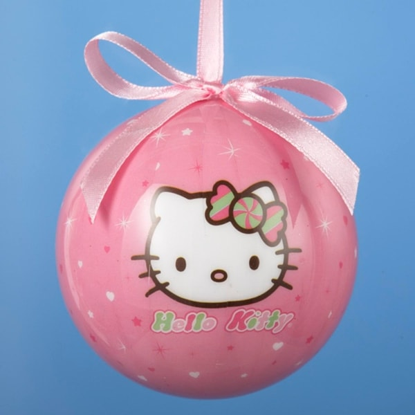 """Pink Hello Kitty with Bow Shatterproof Christmas Ball Ornament 3.25"""" (80mm)"""