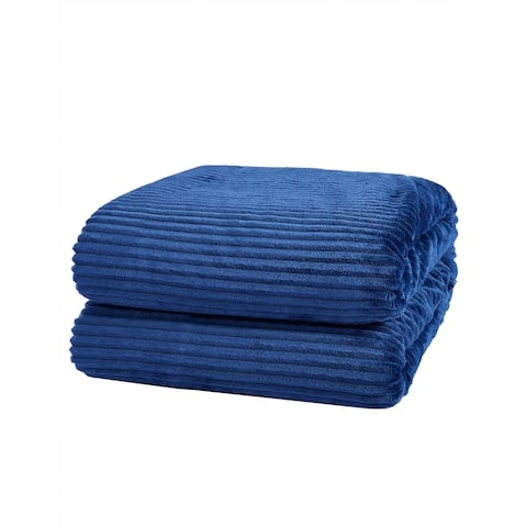 "Richie House Soft & Comfortable Fleece Throw Blanket - navy - 50""*60"""