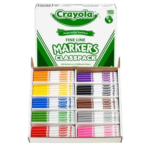 Crayola crayola classpack markers 200 ct 8210
