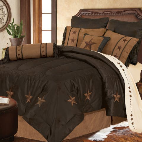 Laredo Comforter Set, Full Chocolate