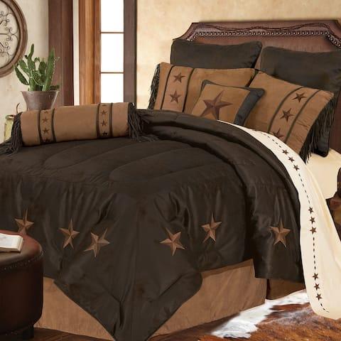 Laredo Comforter Set, Super King Chocolate
