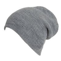 Light Grey Winter Slouch Beanie