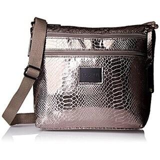 Rosetti Womens Cool And Collected Metallic Faux Leather Crossbody Handbag - Medium