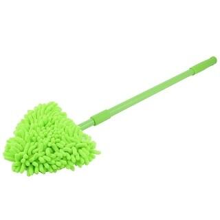 Unique Bargains Plastic Handle Cotton Blends Top Household Stretchable Floor Cleaning Brush