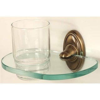 Alno A8070 Glass Wall Mounted Tumbler and Holder from the Classic Traditional Co