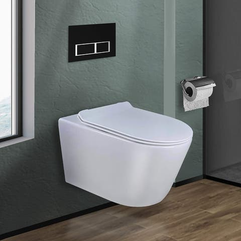 In-Wall toilet Combo Set - Toilet, Tank (2 x 4 Wall), Carrier System
