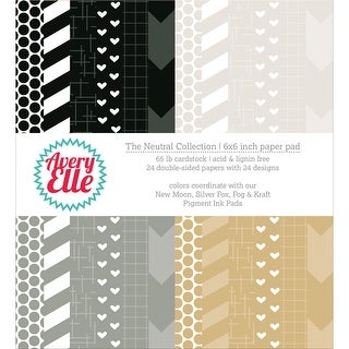 "Avery Elle Double-Sided Paper Pad 6""X6"" 24/Sheets-Neutral, 12 Designs/2 Each"