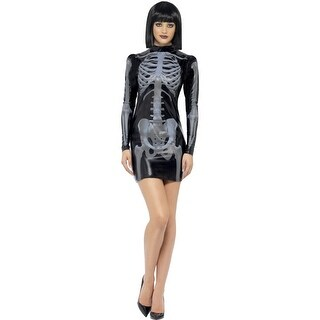 Fever Miss Whiplash Skeleton Adult Costume Large,Medium,Small,X-Small
