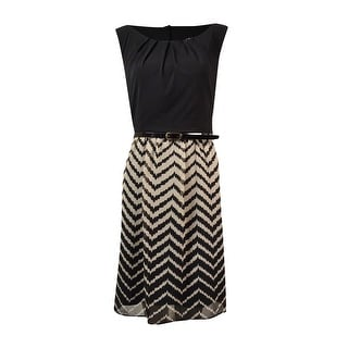 Connected Women's Sleeveless Belted Dress - 10P