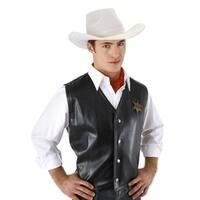 Western Hero White Cowboy Adult Costume Hat
