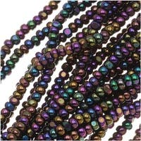 Czech Charlotte Seed Beads 13/0 Purple Iris 1/2 Hank