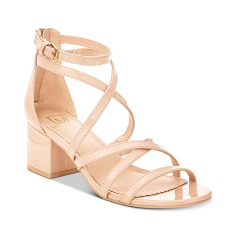 Material Girl Womens Inez Open Toe Special Occasion Strappy Sandals