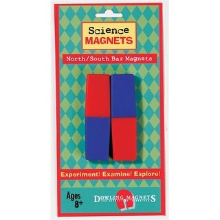 Dowling Magnets DO-712 Science Magnets North-South Bar- Magnets