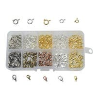 Beadaholique Basics, Jewelry Clasps Variety Pack, 210 Pieces, Assorted Finishes