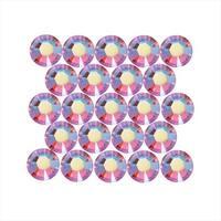 Swarovski Crystal, Round Flatback Rhinestone Hotfix SS20 4.6mm, 50 Pieces, Rose AB