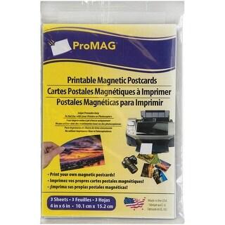 """White Inkjet Printable Postcard Magnet 3/Pkg-4""""X6"""" Matte/Gloss"""