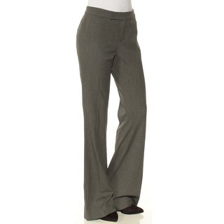Womens Gray Wear To Work Boot Cut Pants Size 2