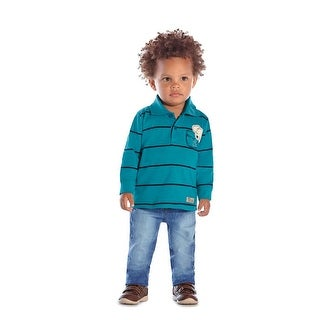 Baby Boy Long Sleeve T-Shirt Polo Tee Newborn Infant Pulla Bulla 3-12 Months