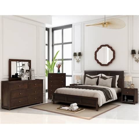 Merax Classic Chatham Rich Brown 3 Piece Bedroom Set