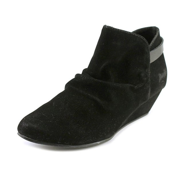 Blowfish Leaf Women Round Toe Synthetic Black Ankle Boot