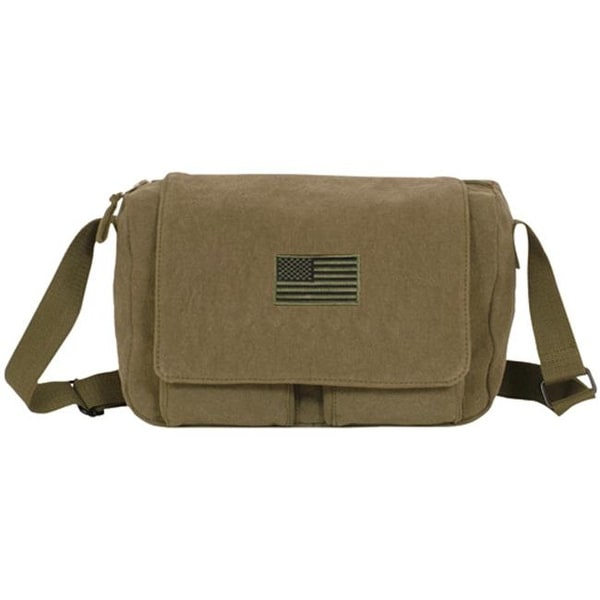 007cb9a4e171 Shop Fox Outdoor Retro Departure Shoulder Bag With Usa Emblem - Olive Drab  - Free Shipping On Orders Over  45 - Overstock - 25223687