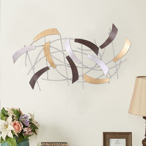 ADECO Decorative Abstract Metal Wall Hanging Sculpture Modern Art