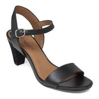 Lucky Brand Women's Pepperr Sandal Black Leather