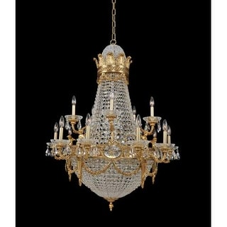 "Allegri 020451 Marseille 25 Light 36"" Wide Empire Chandelier with Crystal Accent"
