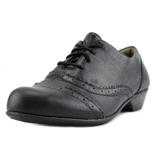 Comfortiva Reddell Women Round Toe Leather Black Oxford