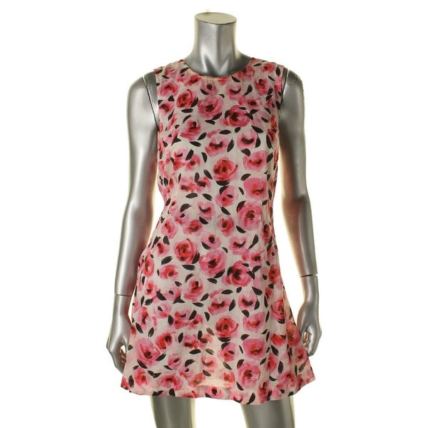 e1380bd3de3e Shop Kate Spade Womens Bay Of Roses Floral Print Knit Dress Swim Cover-Up -  Free Shipping On Orders Over  45 - Overstock - 15809779