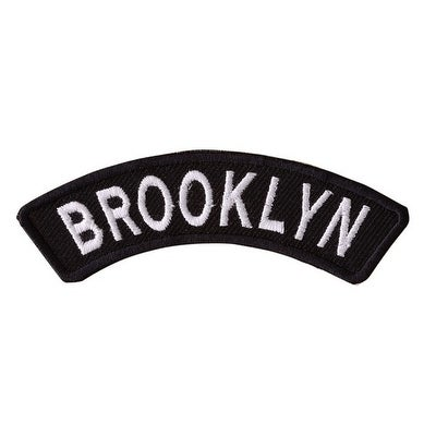 BROOKLYN Embroidered Iron On Motorcycle Biker Vest Patch P13