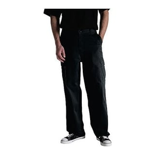 "Dickies Men's Loose Fit Cargo Work Pant 34"" Inseam Black"