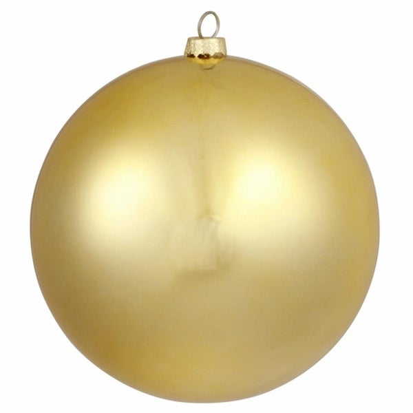 "Matte Vegas Gold Commercial Grade Shatterproof Christmas Ball Ornament 6"" (150mm)"
