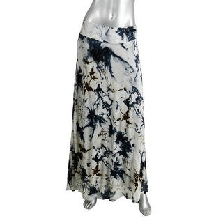 Kensie Womens Printed Long Maxi Skirt